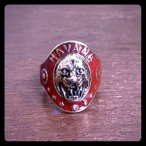 Havana Gold / Red Lion Face Ring